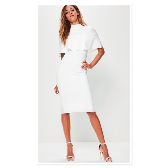 78f7d9f4 Missguided Dresses | Cape White Midi Dress | Poshmark